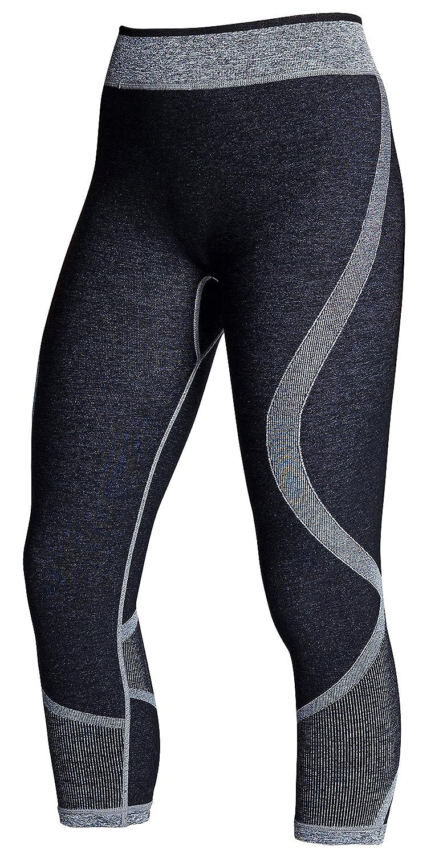 Supacore Damen Training wendbar Capri Kompression Leggings Welt nur Seamless Compression Kleidungsstücke für Sport, Training und Recovery