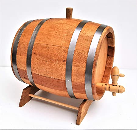 3 L Wooden Barrel Oak Wood Cask With Wooden Tap And Pedestal Amazon
