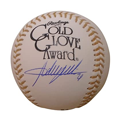 Ivan Rodriguez Autographed Signed Mlb Gold Glove Award Baseball Ball Jsa Coa Autographs-original