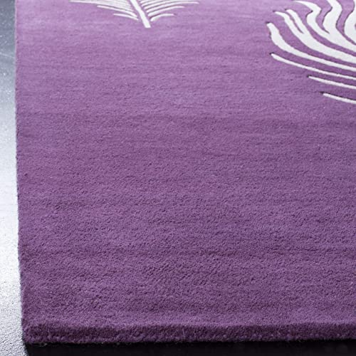 Safavieh Soho Collection SOH704A Handmade Purple and Ivory Premium Wool Area Rug 2 x 3