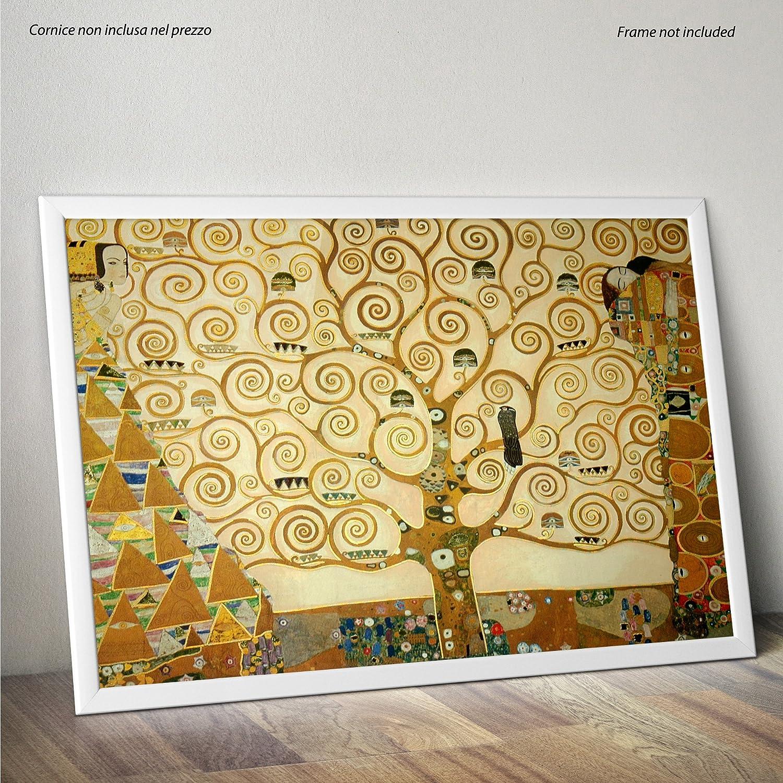 Albero della Vita Poster Alta qualit/à su Carta Lucida Fotografica 30cmx40cm Formato LaMAGLIERIA Klimt