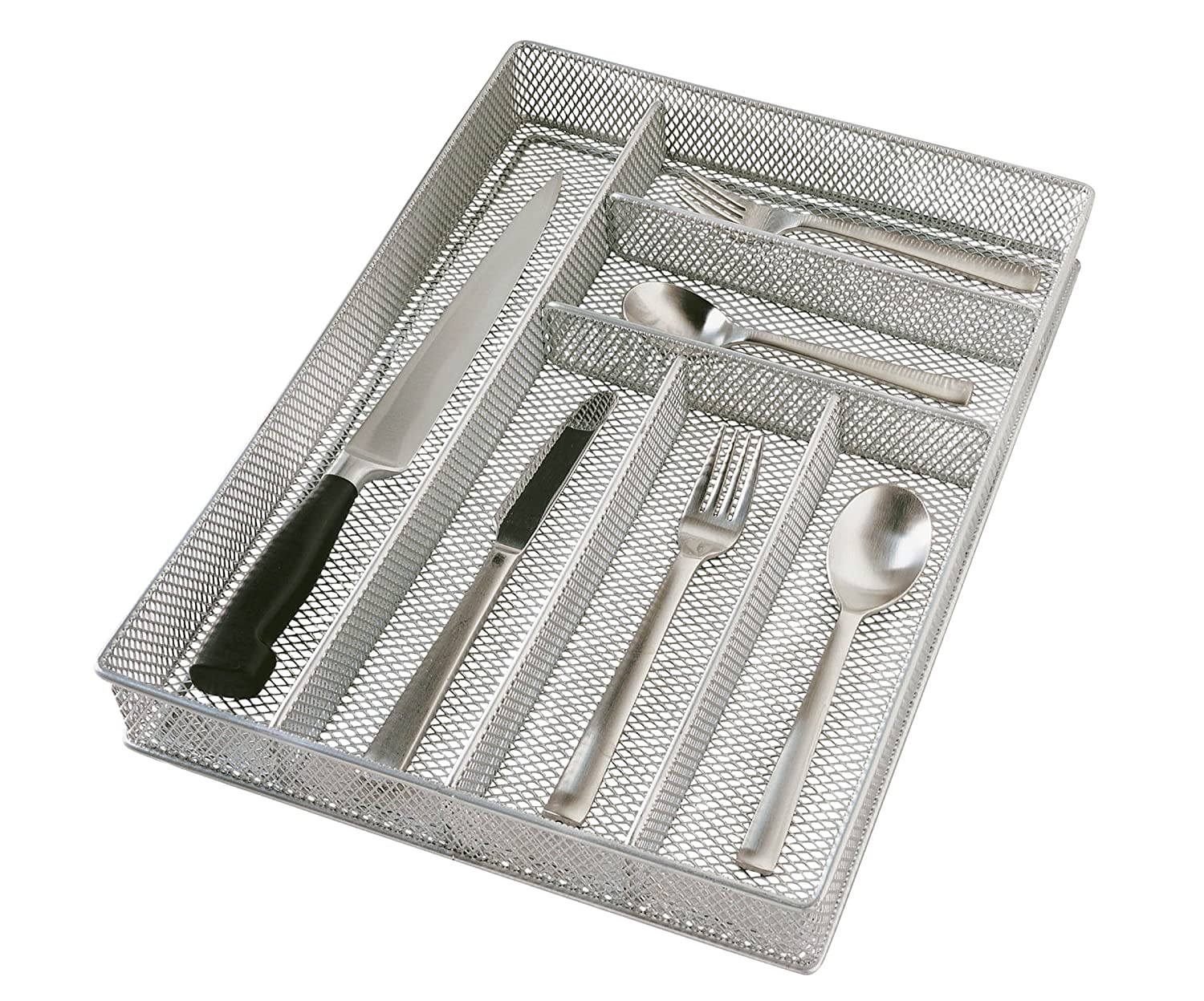 Large Mesh 6-Part In-Drawer Utensil Organizer