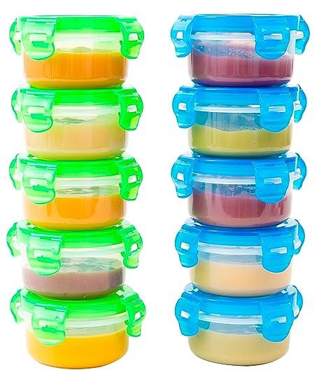 Recipientes pequeños Elacra para alimentos de bebés, sin BPA, apto ...