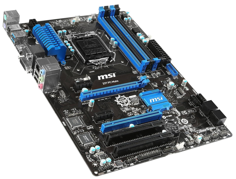 MSI Intel Z97 LGA 1150 DDR3 USB 3 1 ATX Motherboard (Z97 PC Mate)