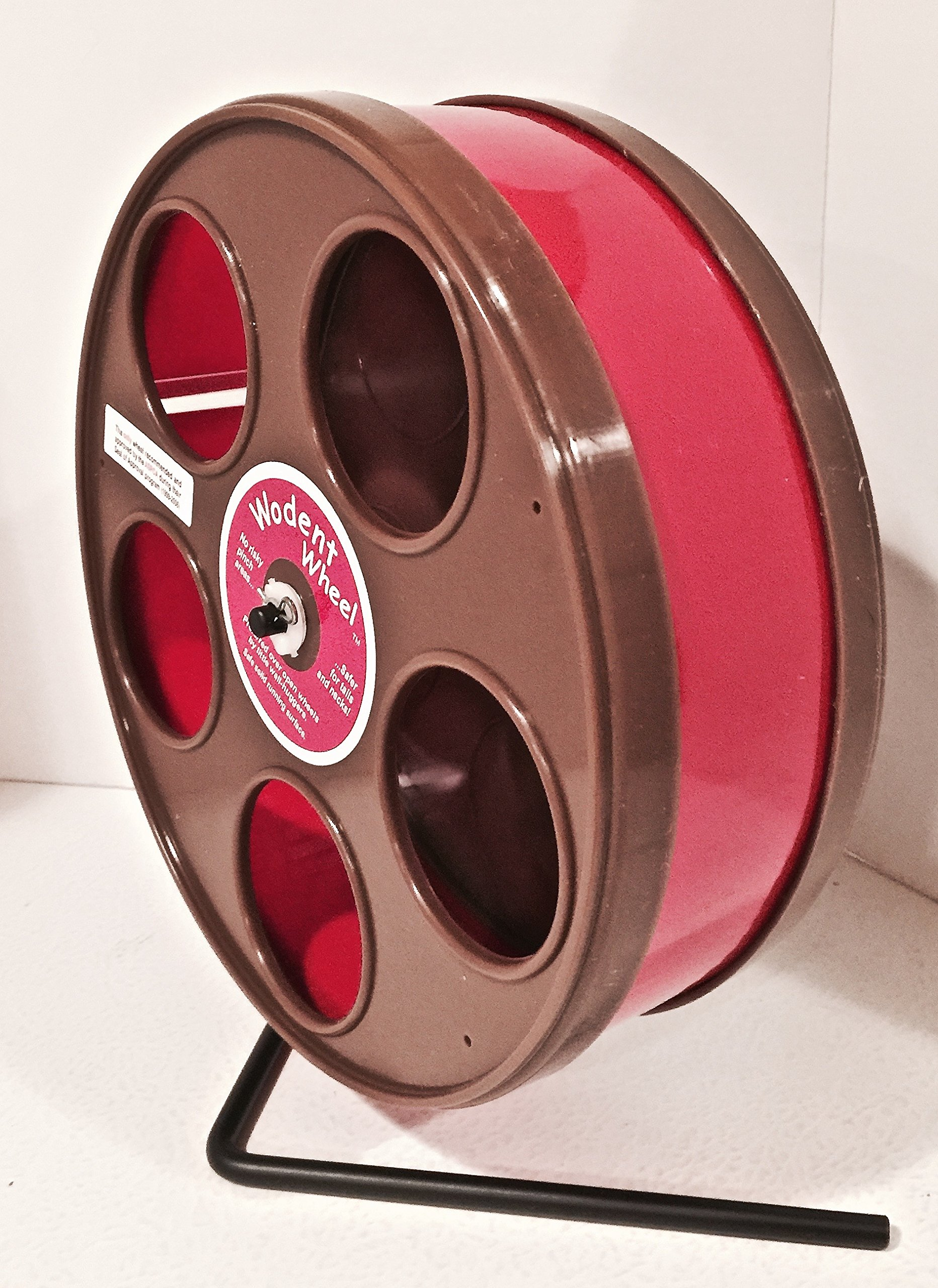 SUGAR GLIDER/HAMSTER WODENT WHEEL 8'' DIAMETER BROWN WITH RED TRACK