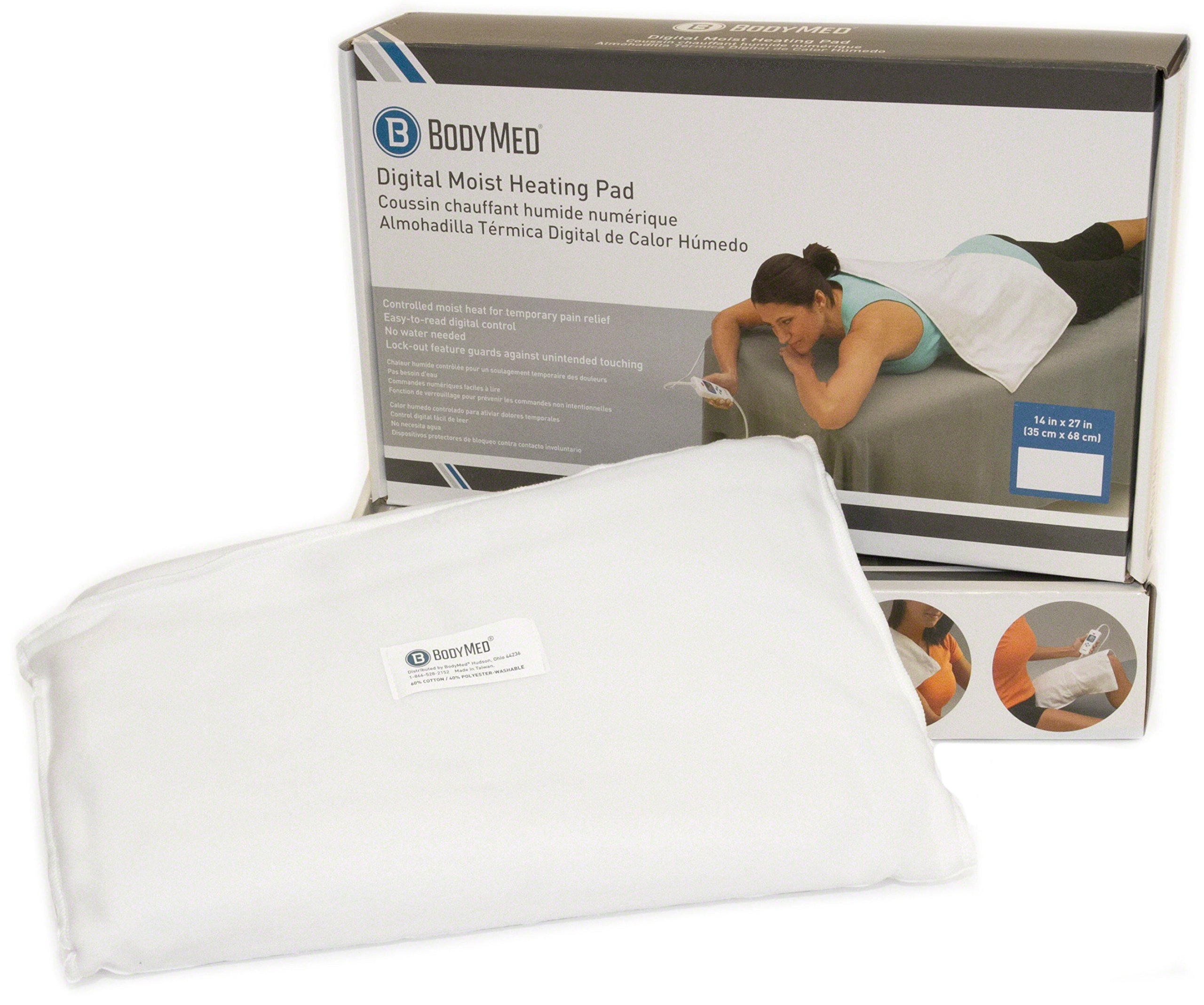 BodyMed Digital Moist Heating Pad with Auto Shut Off Heating Pad for Neck and Shoulders, Back Pain and Muscle Pain by BodyMed