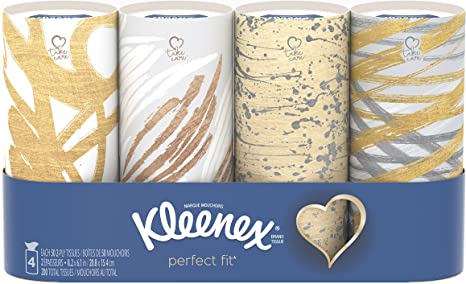 Kleenex Perfect Fit 50 Count 12 Pack Packaging May VaryAssorted Color and