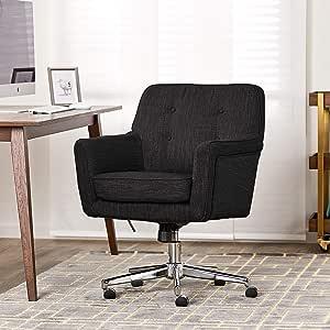 Amazon Com Serta Ashland Ergonomic Home Office Chair With Memory Foam Cushioning Chrome Finished Stainless Steel Base 360 Degree Mobility Furniture Decor