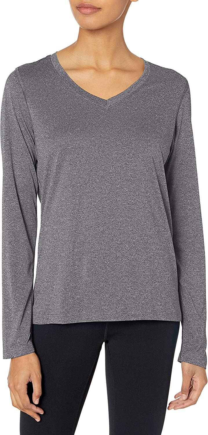 Hanes Sport Women's Cool DRI Performance Long Sleeve V-Neck Tee