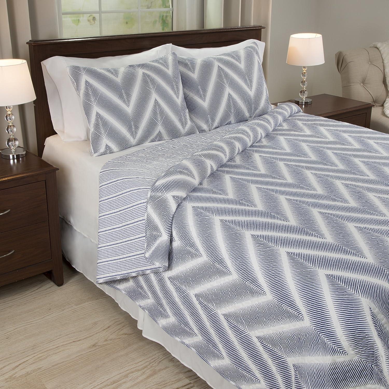 Lavish Home Oriana 3 Piece Quilt Set - Full/Queen 66-10041-FQ