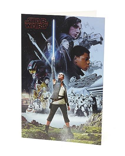 Carlton 552402-0-1 Disney Star Wars - Tarjeta de cumpleaños