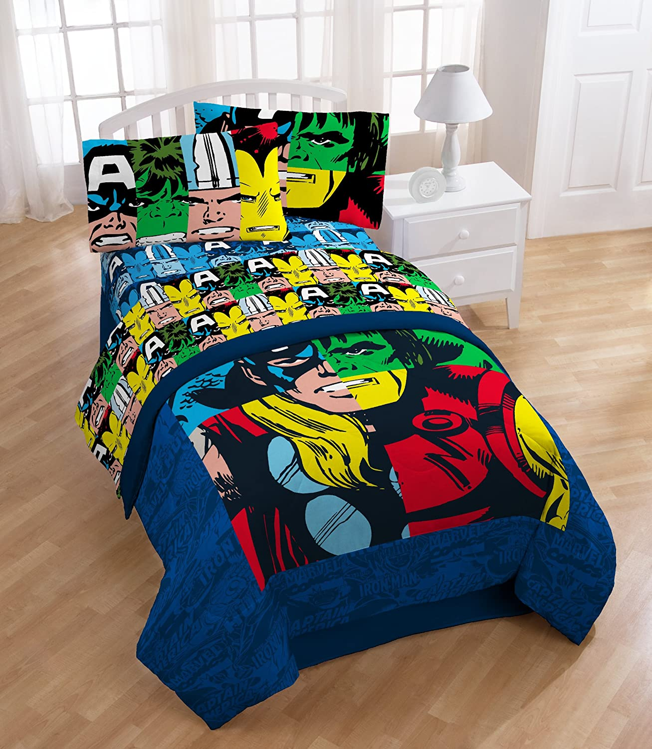 seashell avengers collection detail sheet pink anchor full marvel assemble beach themed sets navy of bedding bedroom large marvelous size comforter buy kawaii fitted