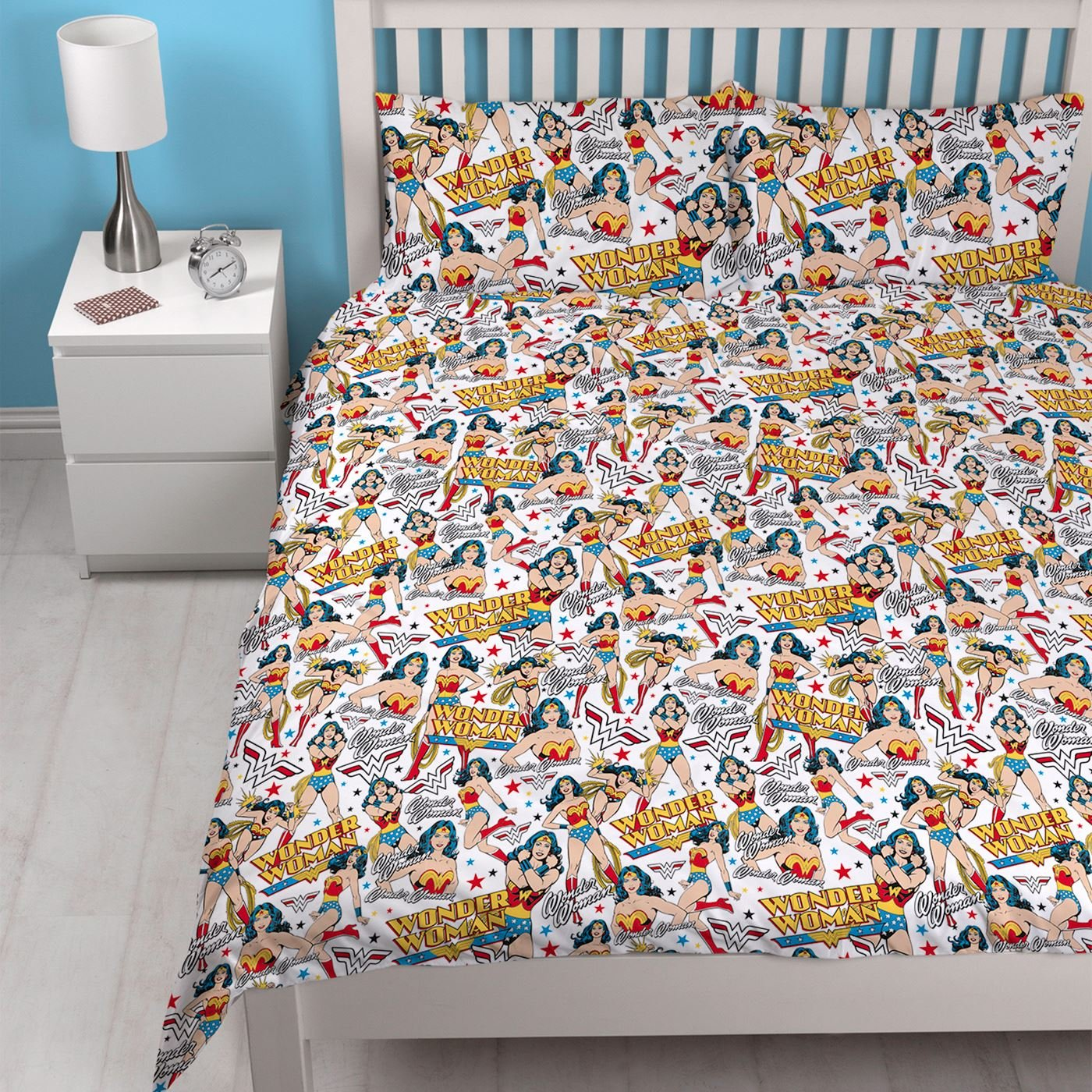 Wonder Woman DC Comics Power' Double Duvet Set - Repeat Print Design