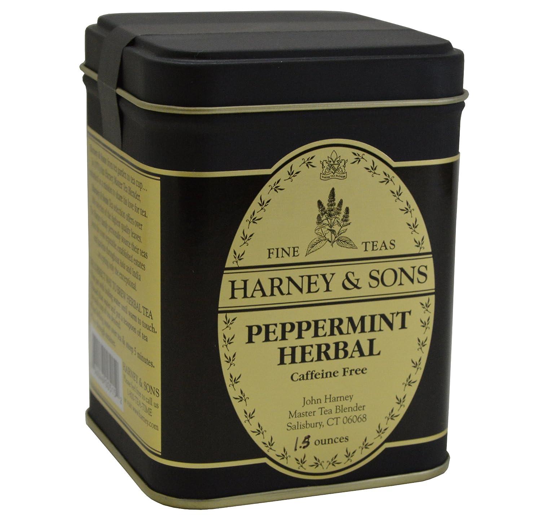 Blend gourmet herbal tea - Amazon Com Harney Sons Fine Teas Peppermint Herbal Caffeine Free Loose Tea Tin 1 5 Oz Grocery Tea Sampler Grocery Gourmet Food