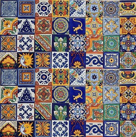 Amazon.com: 100Azulejos de cerámica mexicanos ...