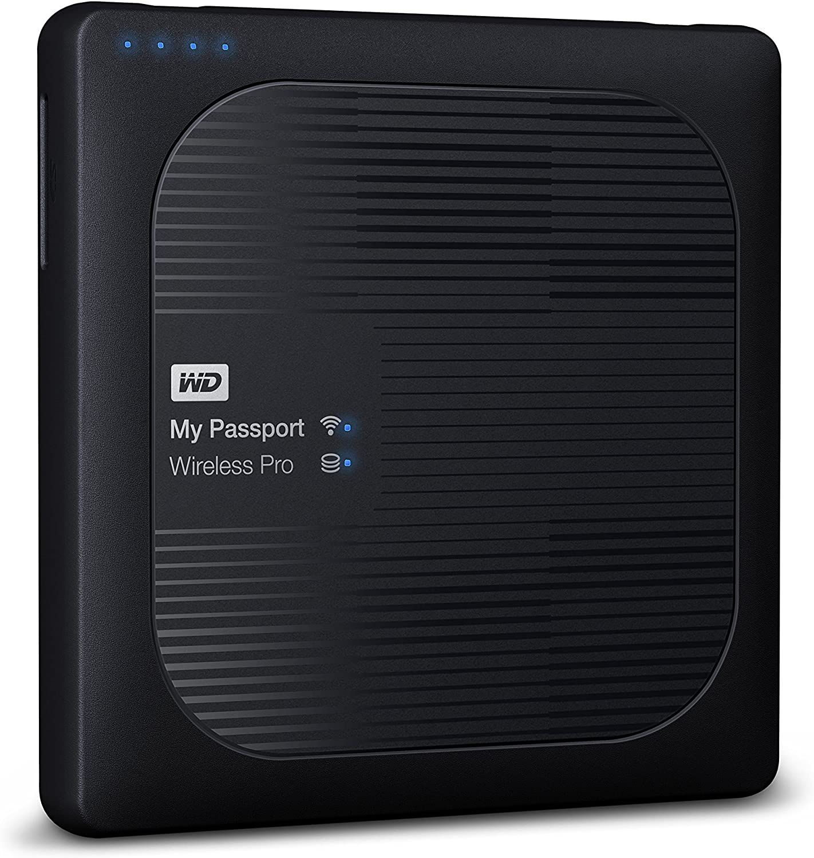 WD 3TB My Passport Wireless Pro Portable External Hard Drive - WiFi USB 3.0 - WDBSMT0030BBK-NESN