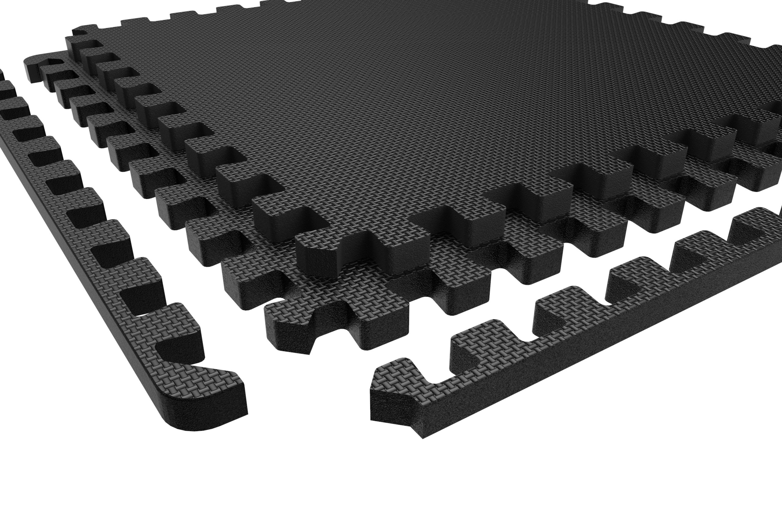 LEVOIT Puzzle Exercise Floor Mat for Gym Equipment, EVA Foam Interlocking Tiles, Protective Flooring for Working Out, Easy Assembly, 24 SQ FT (6 Tiles, 12 Borders), Black by LEVOIT (Image #9)