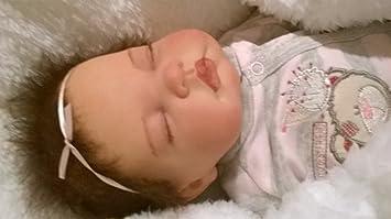 Muñeca bebé Molly, Heavy, 19 cm de largo, con pelo y chupete ...