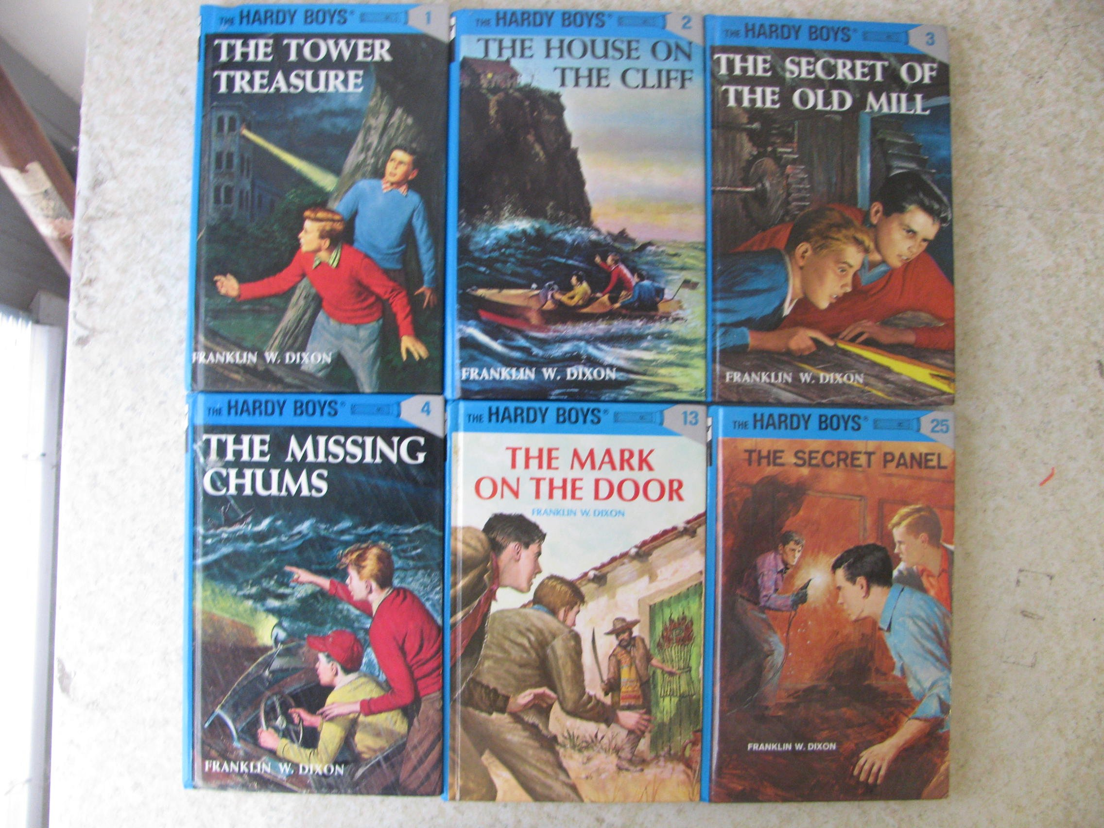 The Hardy Boys Series, 11 Books 1 Tower Treasure, 2 House on the Cliff, 3  Secret of the Old Mill, ...