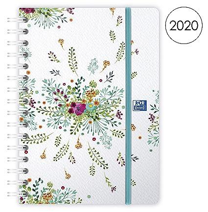 Oxford 100735832 Flowers - Agenda (semanal en espiral año ...