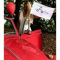 10x Autofahne für Hochzeit - Hochzeitsflagge - Hochzeitsfahne Auto - Hochzeitsdeko - Hochzeitszubehör - Hochzeitsaccessoires - Auto Deko für Hochzeit - Autoschmuck Hochzeit - Hochzeitsgeschenk - Hochzeitsschmuck …