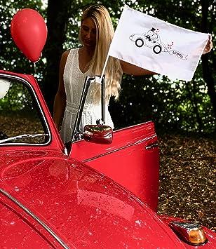 Heckbo 20x Autoflagge Autofahne Hochzeit Hochzeitsdeko