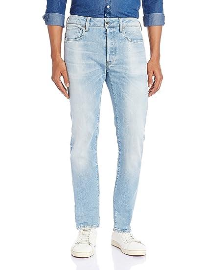 G Star Raw Mens 3301 Nippon Stretch Denim Slim Jeans, Blue (Light Aged), 29W x 30L G-Star
