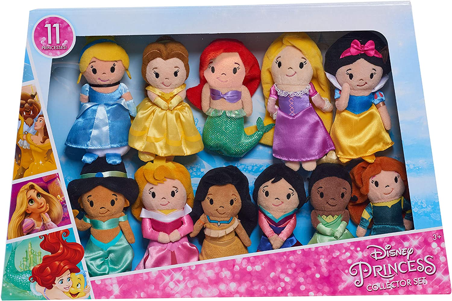 Amazon.com: Disney Princess Just Play Stylized Plush Super Pack Fashion  Dolls and Accessories: Toys & Games