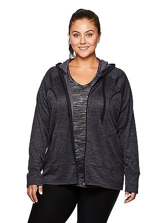 Women's plus size sweatshirt jacket