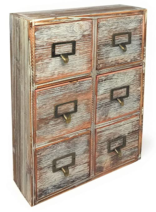 Farmhouse Decor Desk Organizer Storage Cabinet Bathroom Home Shelves  Kitchen Living Room Bedroom Furniture Apothecary Drawers Rustic Wood  Distressed ...