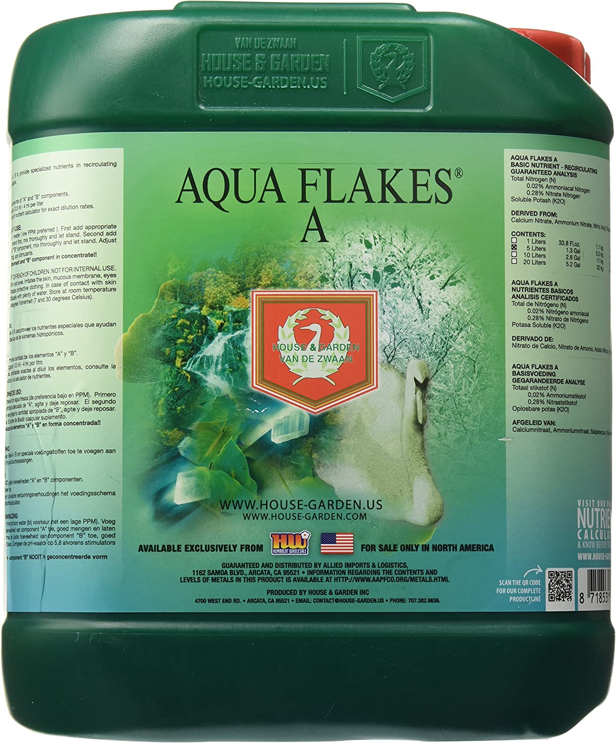 House & Garden HGAFA05L Aqua Flakes, 5 L fertilizers, Natural