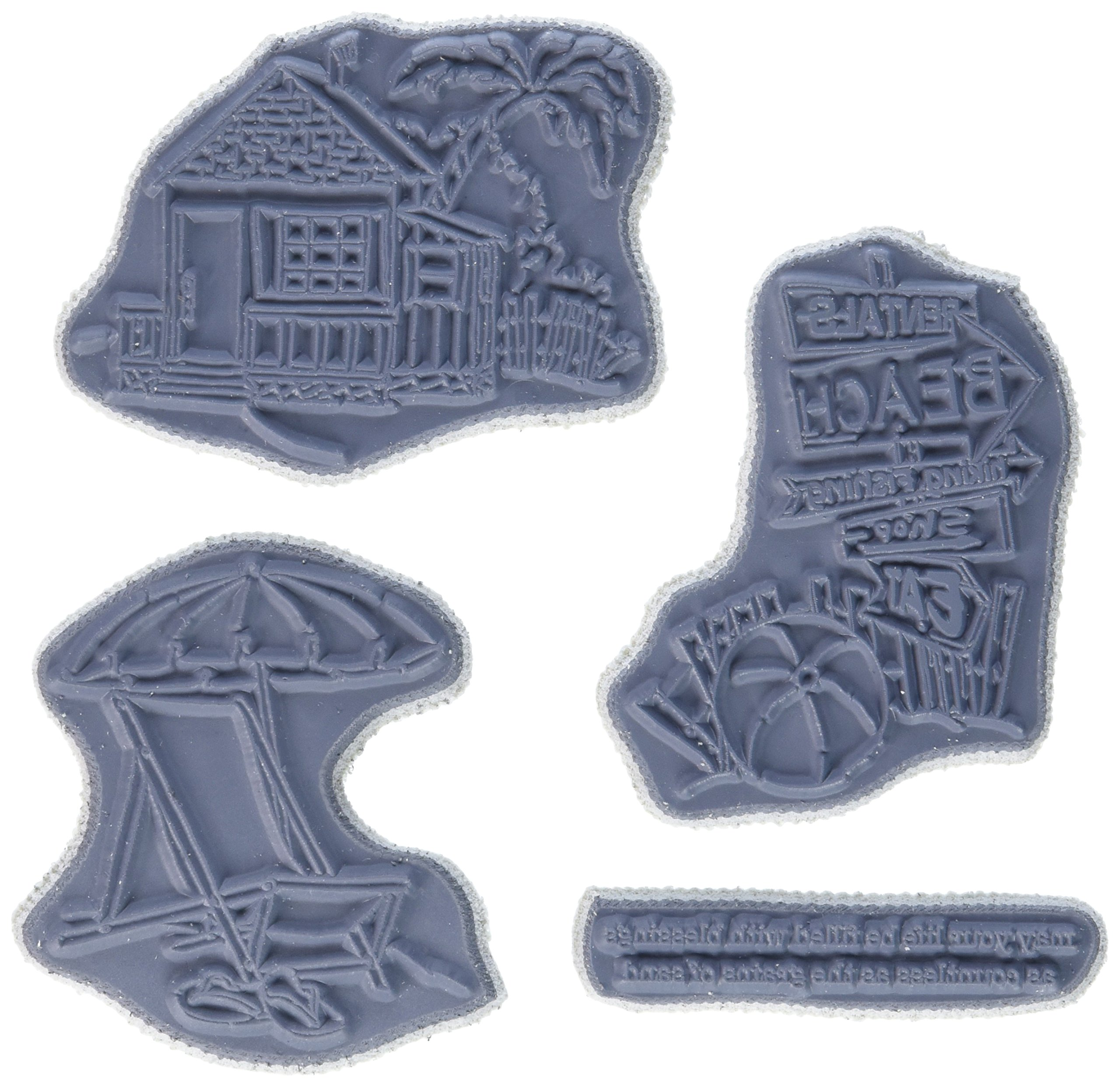 Art Impressions 4577 Beach Try 'Folds Cling Rubber Stamps, 9'' by 4.5''