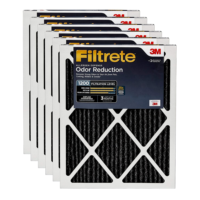 Filtrete 14x24x1, AC Furnace Air Filter, MPR 1200, Allergen Defense Odor Reduction, 6-Pack (Renewed)