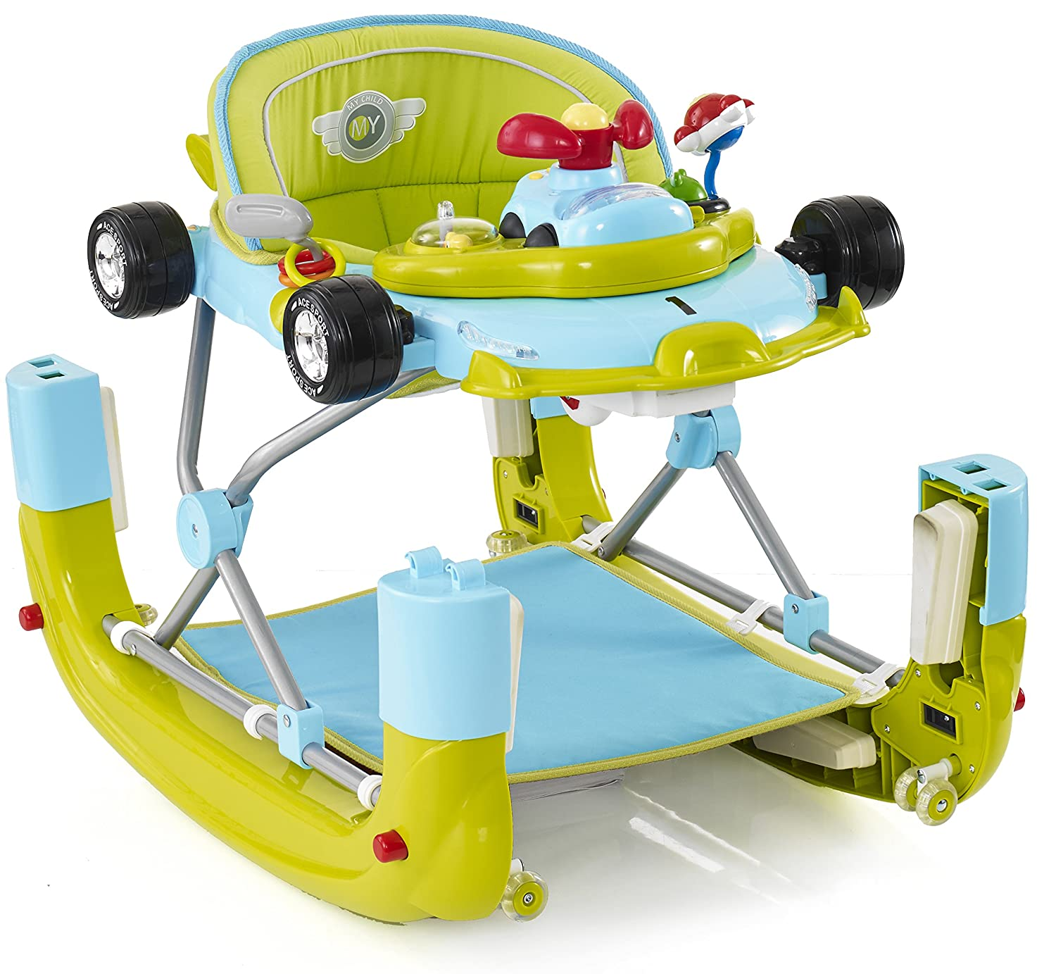 My Child F1 - Andador de coche verde Go Go Green: Amazon.es: Bebé