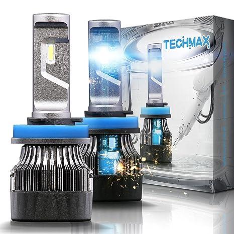Techmax - Bombillas LED para faros delanteros (2 unidades, H4, H7, H11