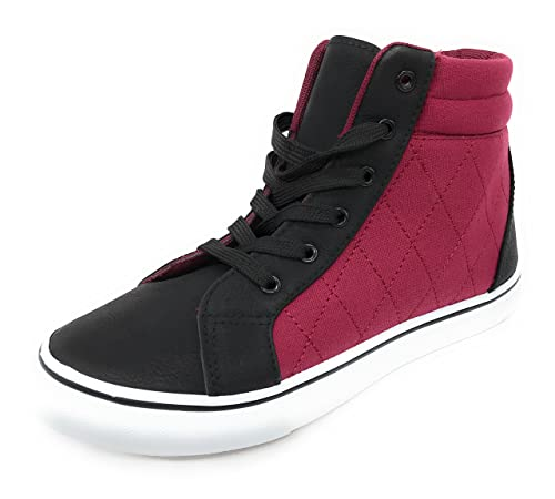 EASY21 Lady's High top Canvas PU Fashion Sneaker 10 M US Women Navy