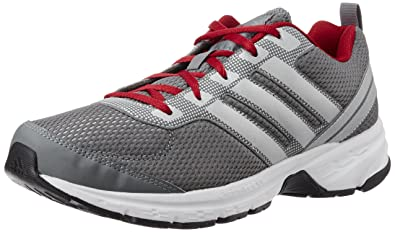 bd833bb5e Adidas Men's Adi Pacer M Grey, Silver and Red Mesh Sport Running Shoes - 7