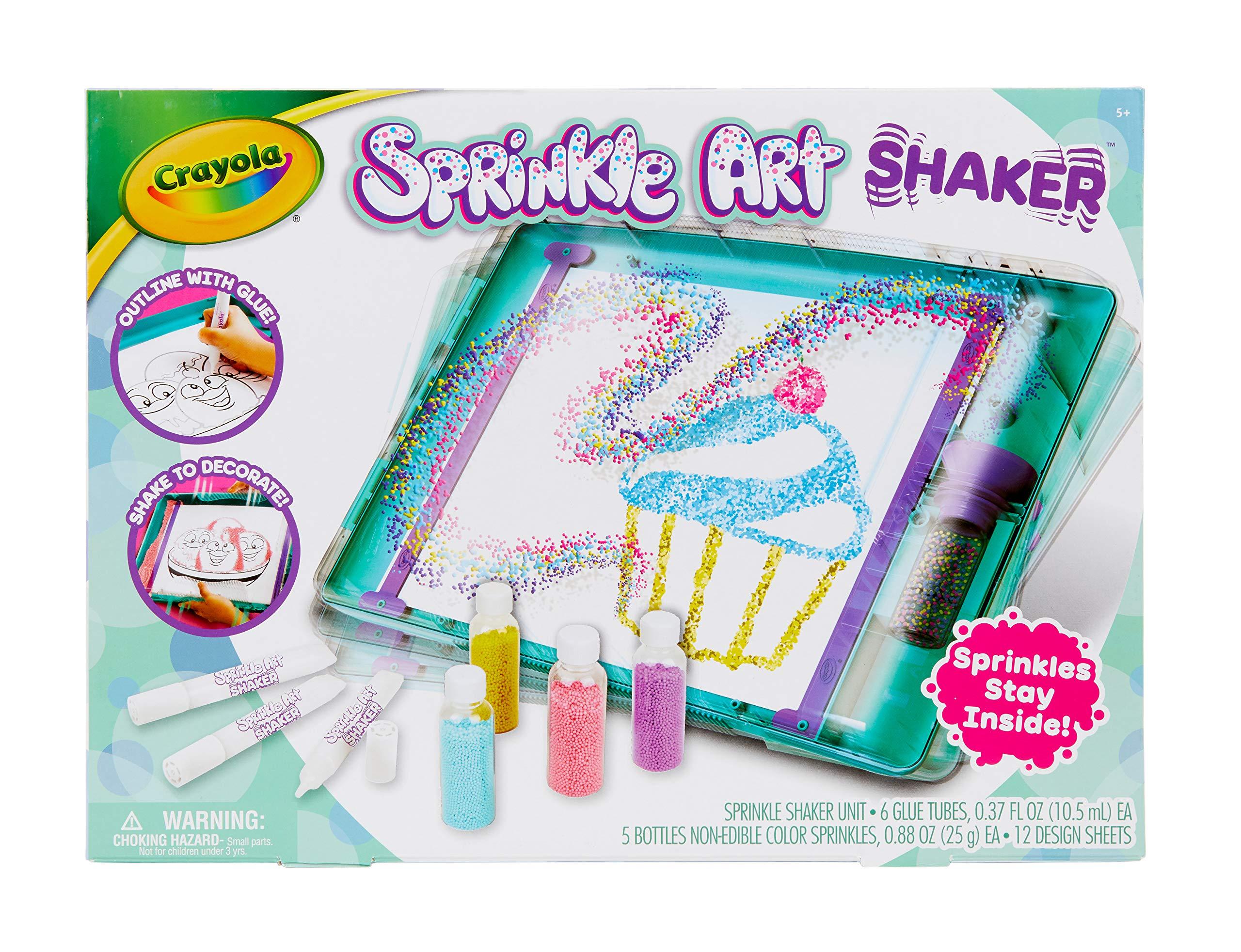 Crayola Sprinkle Art Shaker, Rainbow Arts & Crafts for Girls, Gift, Age 5, 6, 7, 8 by Crayola