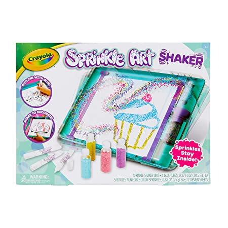 Crayola Sprinkle Art Shaker, Rainbow Arts & Crafts for Girls, at Home Crafts for Kids