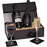 Luxury Prosecco & Red Wine Gift Hamper Presented In A Gift Box - Perfect Birthday Wine Hampers