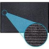 Door Mat by LuxUrux, Durable Rubber Heavy Duty Doormat, Indoor Outdoor, Easy Clean, Waterproof, Low-Profile Mats for Entry, P