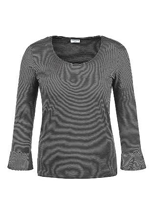 cdd1944683a9e6 ONLY Linda Damen Longsleeve Langarmshirt Streifenshirt Shirt Mit  Rundhalsausschnitt 3 4 Arm Und Volants  Amazon.de  Bekleidung
