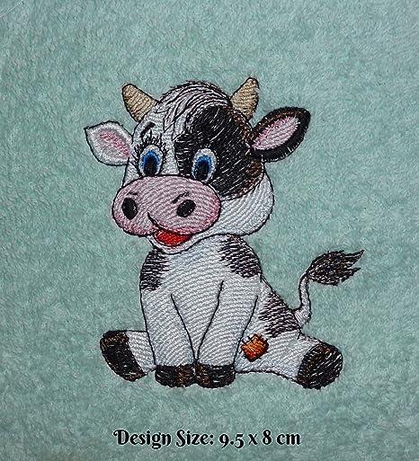 El bebé vaca de parche – diseño de juguetes antiguos (188) – bordado personalizado