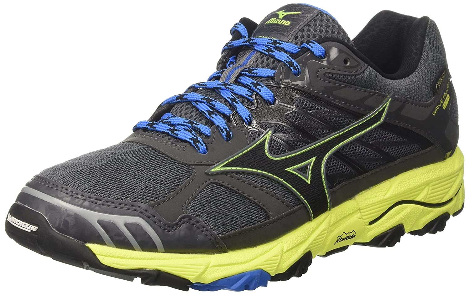 Mizuno Wave Mujin G-TX, Zapatillas de Running para Hombre 43 EU|Multicolor (Castlerock/Black/Safetyyellow)