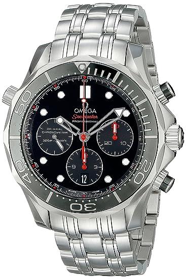 Omega de hombre 21230445001001 analógico automático para hombre plateado reloj