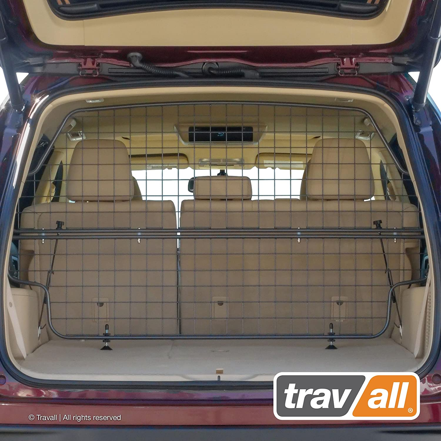 Steel Pet and Baggage Barrier TDG1575 and Trunk Divider TDG1575D 2013-2019 Travall Guard Safety Pack Compatible with Toyota Highlander