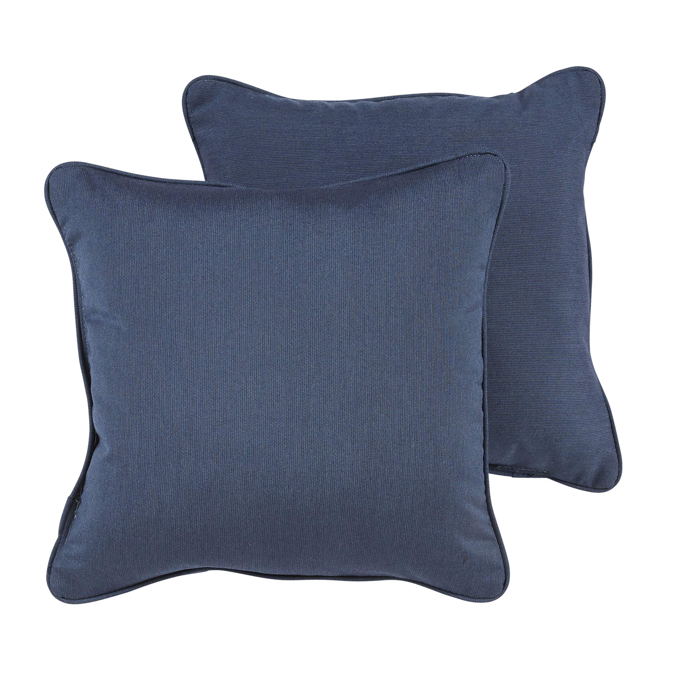 Humble and Haute Callahan Sunbrella Indigo Indoor/Outdoor 18 Inch Corded Pillow Set