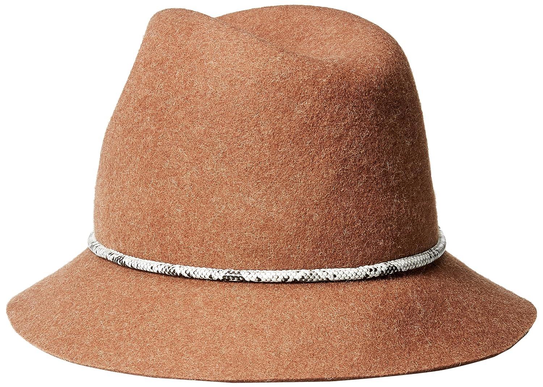 056ad3b17a2 Amazon.com: Genie by Eugenia Kim Women's Jordan Wool Felt Fedora Hat with  Vegan Leather Cord, Fawn, One Size: Clothing