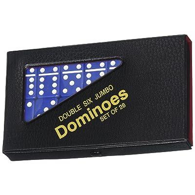 Double 6 Jumbo Dominoes - Blue: Home & Kitchen