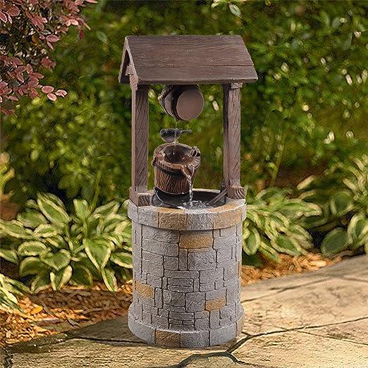 Peaktop VFD8212-UK Fuente de Pozo al Aire Libre, Gris, 33.50 x 31.49 x 76.50 cm: Amazon.es: Jardín